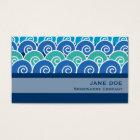 Beach Waves Blue Business Card