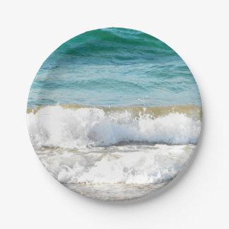 Beach Waves Paper Plate
