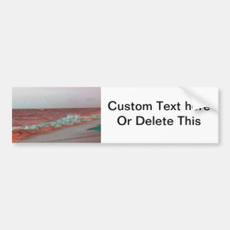 beach waves red teal florida seashore background bumper stickers