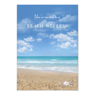 Beach Wedding 13 Cm X 18 Cm Invitation Card