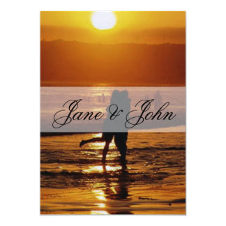 Beach Wedding 13 Cm X 18 Cm Invitation Card