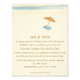 Beach Wedding Abroad Invitation