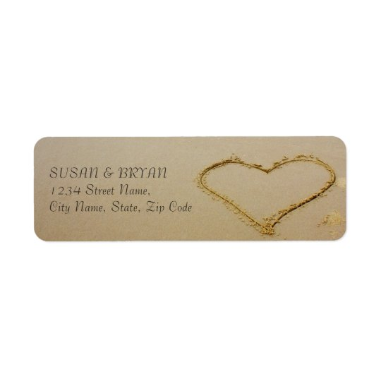Beach Wedding Address Label