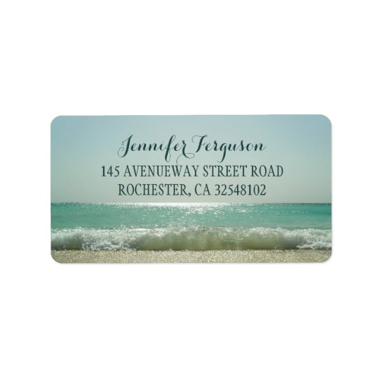 Beach Wedding Address Label
