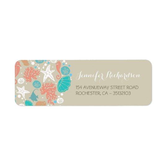 beach wedding address labels