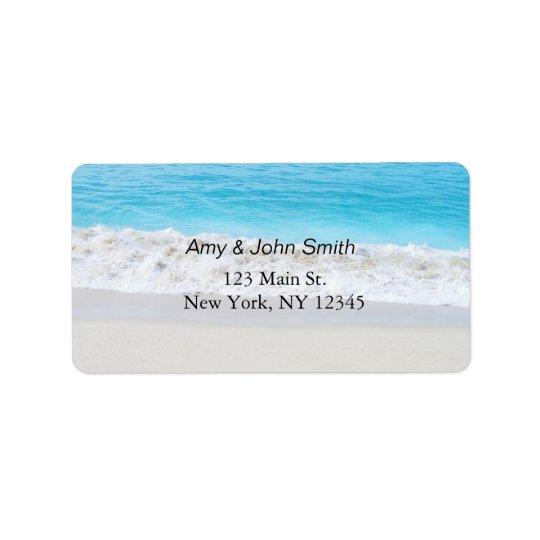Beach wedding address labels beach1