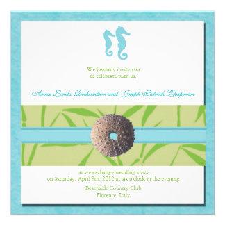 Beach Wedding - Aqua Blue wedding invites