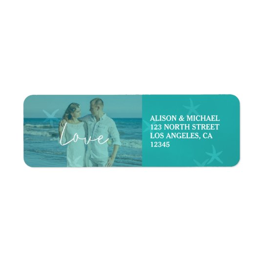 Beach wedding aqua love script photo underwater