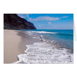 Beach Wedding Backdrop Card