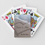 Beach Wedding Bicycle Poker Cards