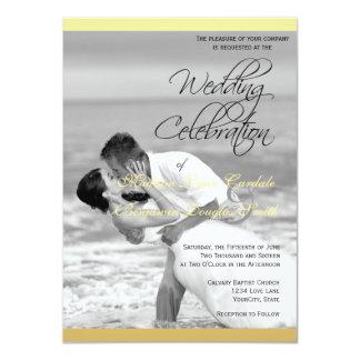 Beach wedding black and white kiss/Wedding Invitat 11 Cm X 16 Cm Invitation Card