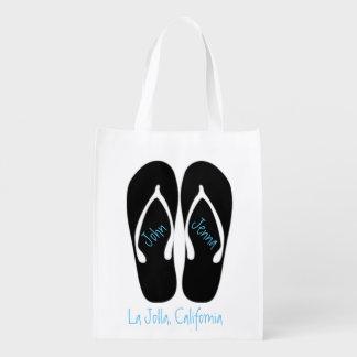 Beach Wedding Black Flip Flop Welcome Bags