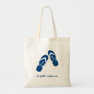 Beach Wedding Blue Flip Flop Welcome Bag Totes