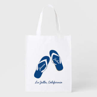Beach Wedding Blue Flip Flop Welcome Bags