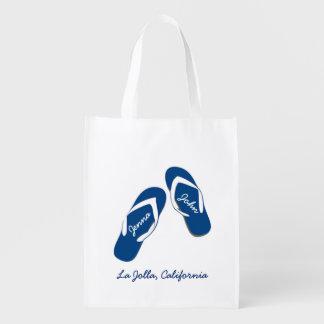 Beach Wedding Blue Flip Flop Welcome Bags