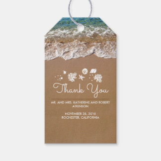 Beach Wedding Blue Sea and Sand Tropical Gift Tags