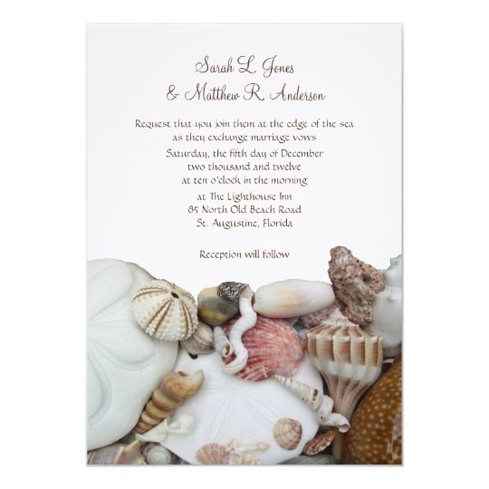 Beach Wedding Bride and Groom Inviting Invitation