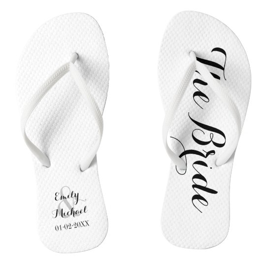 f413ca2228be Beach Wedding Bride Flip Flops