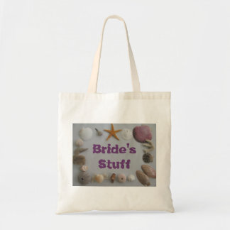Beach Wedding/Bride's Stuff Tote Bag