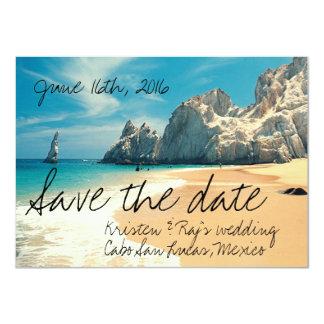 Beach Wedding Cabo San Lucas, Mexico Save the Date Card