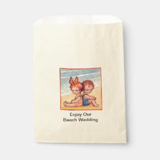 Beach Wedding Candy Favor Bag