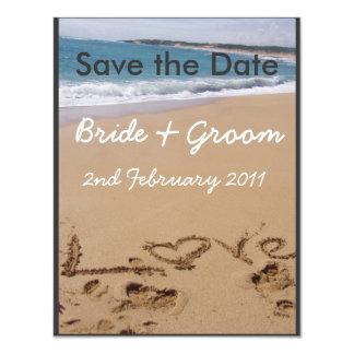 Beach Wedding - Change colour to suit your theme! 11 Cm X 14 Cm Invitation Card