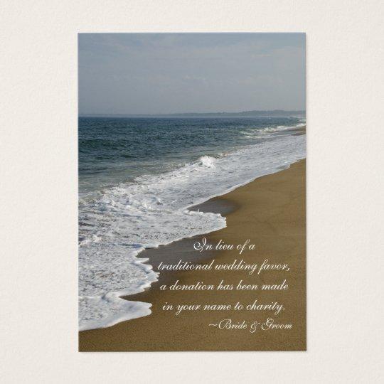 Beach Wedding Charity Favour Card