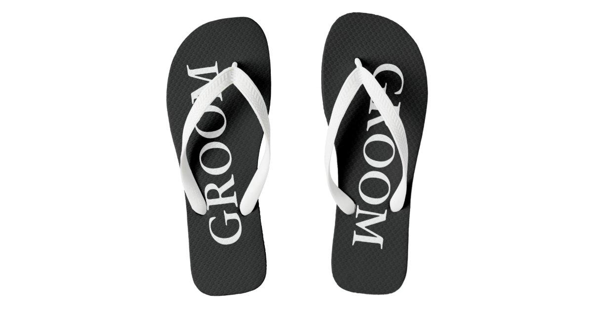 e686a8c549548 Beach Wedding Flip Flops for Bride and Groom