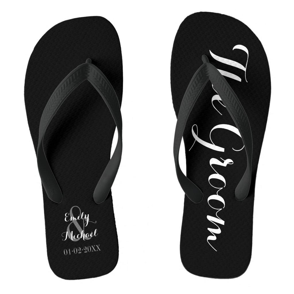 Beach Wedding Groom Flip Flops