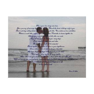 "Beach Wedding ""I Do"" Gallery Wrapped Canvas"