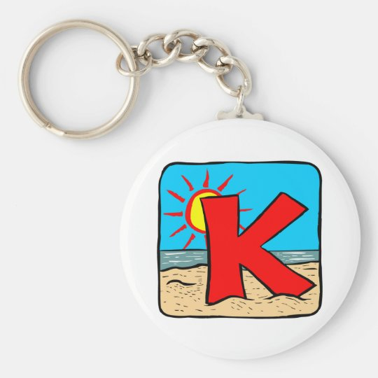 Beach Wedding Ideas Letter K Key Ring