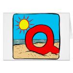 Beach Wedding Ideas Letter Q Greeting Cards