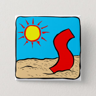 Beach Wedding Ideas Letter S 15 Cm Square Badge