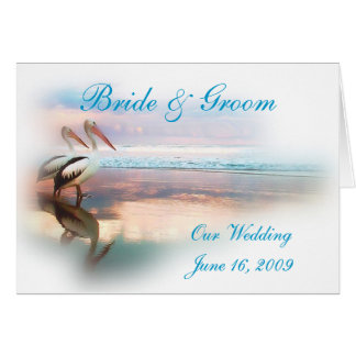 Beach Wedding Invitation Greeting Card