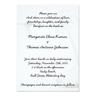 Beach Wedding Invitation or announcement