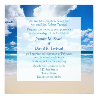 Beach Wedding Invitation Tropical Wedding Invite