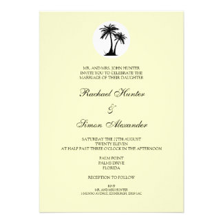 Beach Wedding Invitiation -Yellow Personalized Announcements