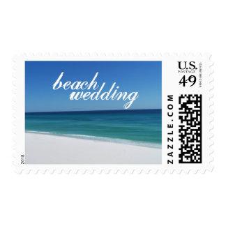 Beach Wedding Medium Postage