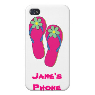 Beach Wedding Phone Cases: Flip Flop Design iPhone 4/4S Cover