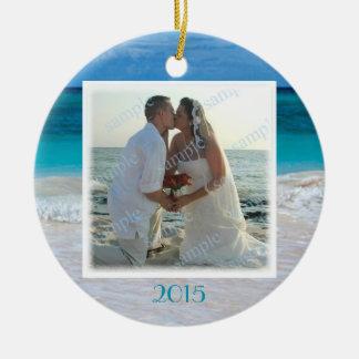 Beach Wedding Photo Frame Tropical Ocean Ornaments