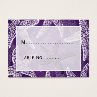 Beach Wedding  Placecards Starfish Purple Business Card