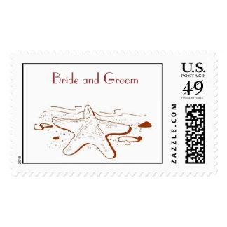 Beach Wedding Postage Stamp