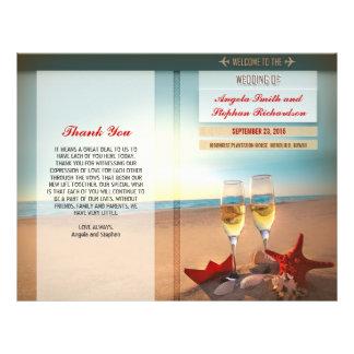 beach wedding programs 21.5 cm x 28 cm flyer