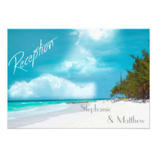 Beach Wedding Reception Card Invitations