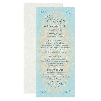 Beach Wedding Reception Menu Cards, Destination Card
