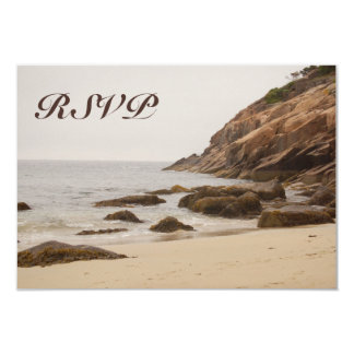 Beach Wedding Reply Cards - Rocky Beach II