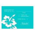 Beach Wedding Response Cards Hibiscus Blue