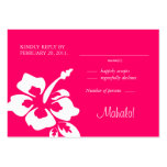 Beach Wedding Response Cards Hibiscus Pink