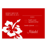 Beach Wedding Response Cards Hibiscus Red