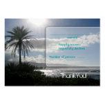 Beach Wedding Response Cards Palm Tree